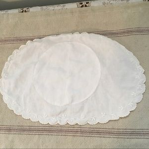Vintage Bed Linen Embroidered Small Pillow case